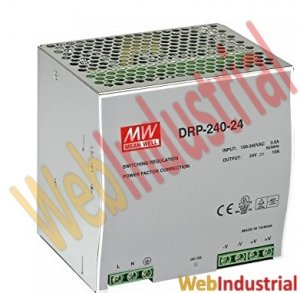MEAN WELL - DRP-240-24-10 - DIN Rail Power Supply 240W 24 VDC 10A