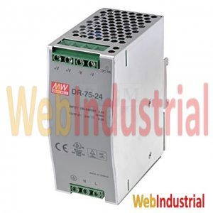 MEAN WELL - DR-75-24-3.2 - DIN Rail Power Supply 75W 24VDC 3.2A