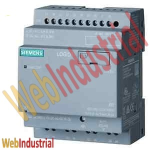 SIEMENS  6ED1052-2MD08-0BA0 LOGO! V.8 12/24RCEO LOGO! 12/24RCEO, logic module, PS/I/O: 12/24VDC/relay, 8 DI (4AI/4DO) without display